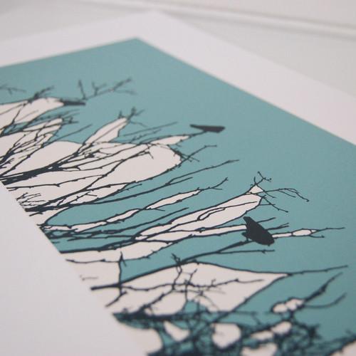 Jacky Al-Samarraie Turquoise Watching Screen Print