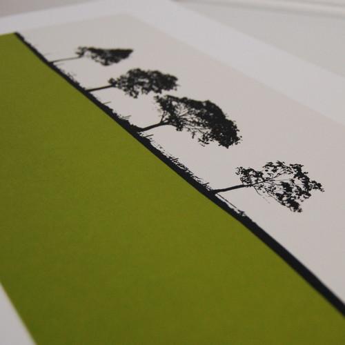 Jacky Al-Samarraie Harrogate Landscape Screenprint