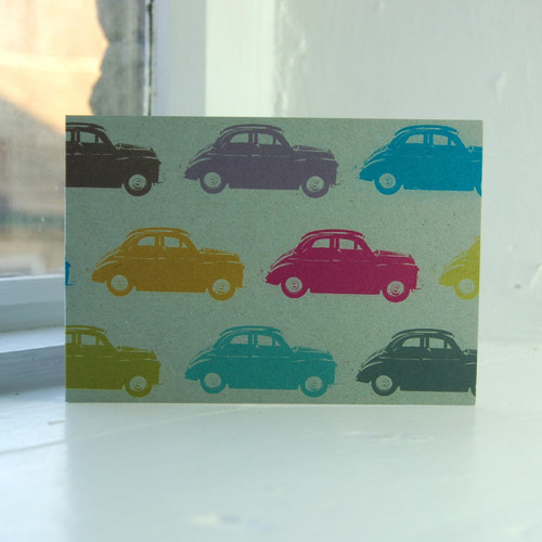 Jacky Al-Samarraie Morris Minor Greeting Card