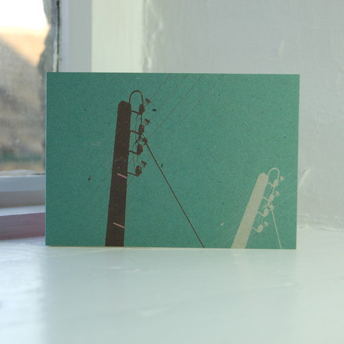 Jacky Al-Samarraie Telegraph Poles Greeting Card