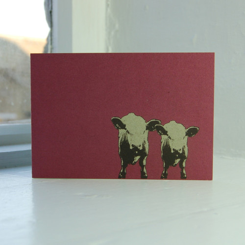 Jacky Al-Samarraie Cows Greeting Card