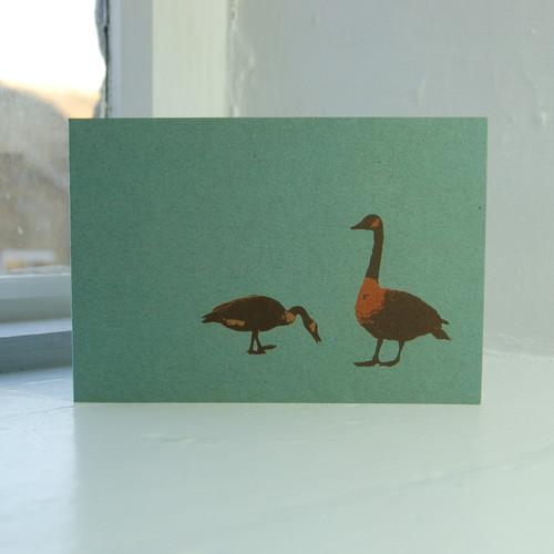 Jacky Al-Samarraie Geese Greeting Card