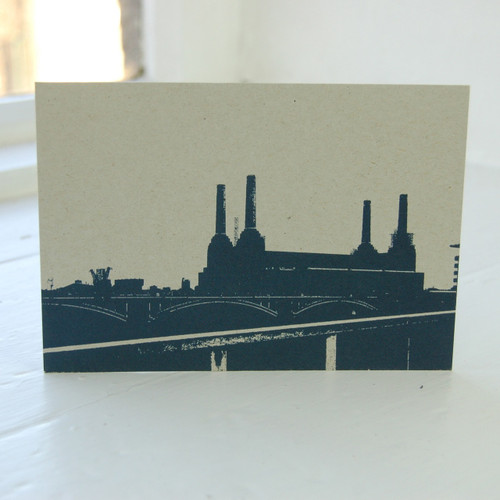 Jacky Al-Samarraie Battersea Power Station Blue Postcard