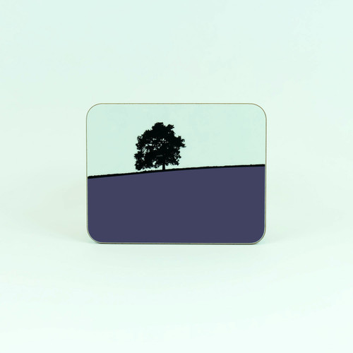 Blue Hawkshead melamine coaster from The Art Rooms.