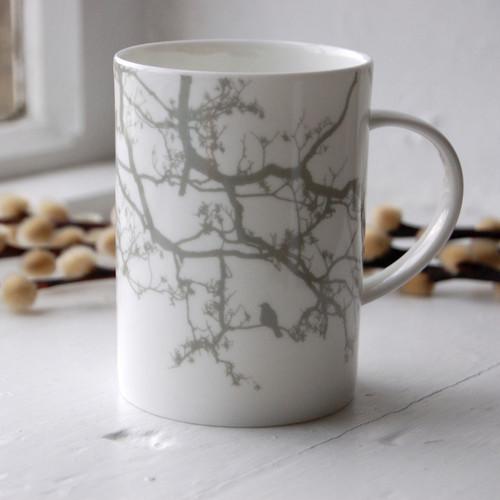 Jacky Al-Samarraie Grey Birdsong Bone China Mug