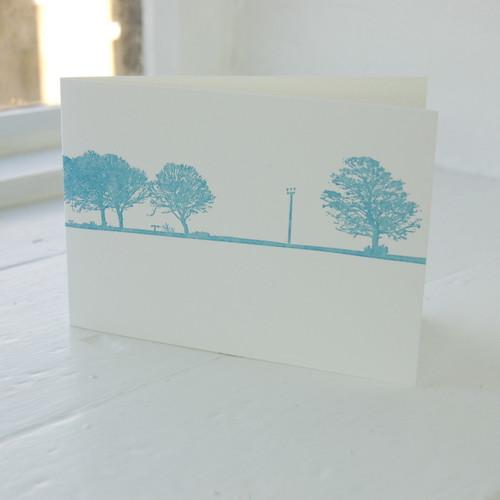 Jacky Al-Samarraie Calverley Letterpress Greeting Card