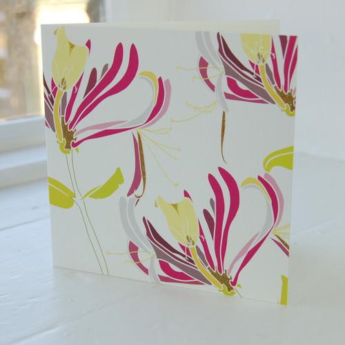 Jacky Al-Samarraie Honeysuckle Pink Greeting Card