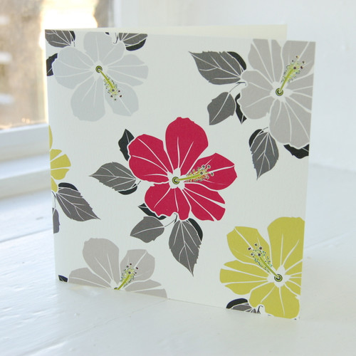 Jacky Al-Samarraie Hibiscus Pink Greeting Card