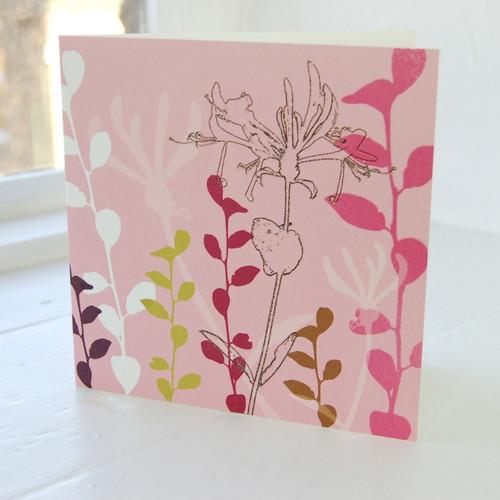 Jacky Al-Samarraie Honeysuckle Greeting Card