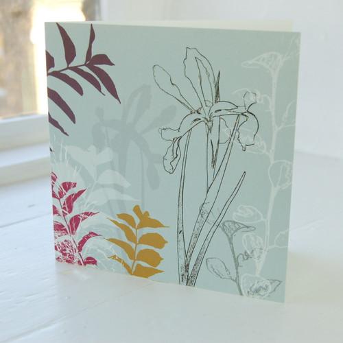 Jacky Al-Samarraie Iris Greeting Card
