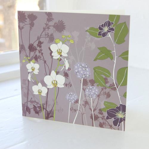 Jacky Al-Samarraie Orchid Greeting Card