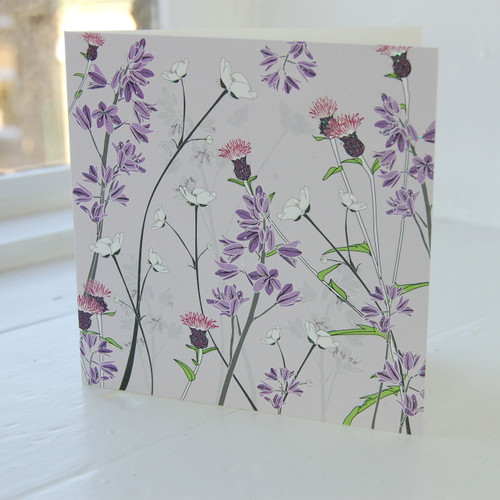 Jacky Al-Samarraie Bluebells & Buttercup Greeting Card