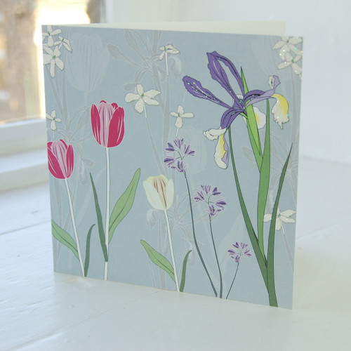 Jacky Al-Samarraie Tulip & Iris Greeting Card