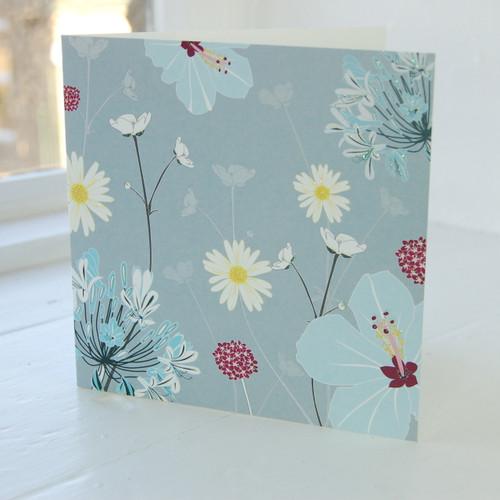Jacky Al-Samarraie Daisy & Hibiscus Greeting Card