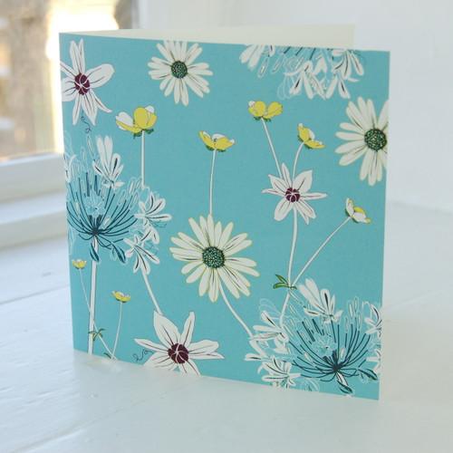 Jacky Al-Samarraie Daisy & Agapanthus Greeting Card