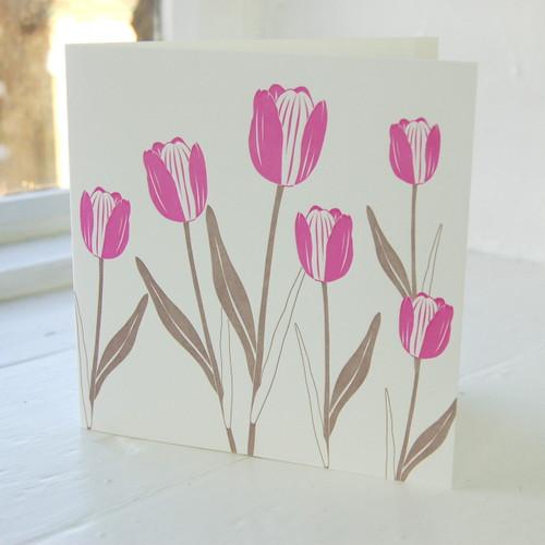 Jacky Al-Samarraie Tulip Letterpress Greeting Card