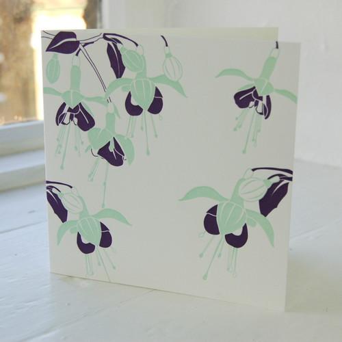 Jacky Al-Samarraie Fuchsia Letterpress Greeting Card