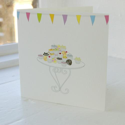 Jacky Al-Samarraie Cake Stall Greeting Card