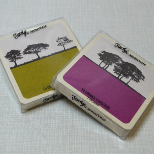 Jacky Al-Samarraie Rural Landscape Drinks Coasters - Set 2