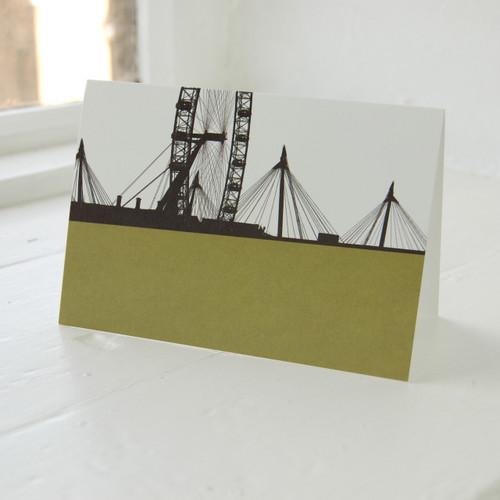 Jacky Al-Samarraie London Eye Green Greeting Card