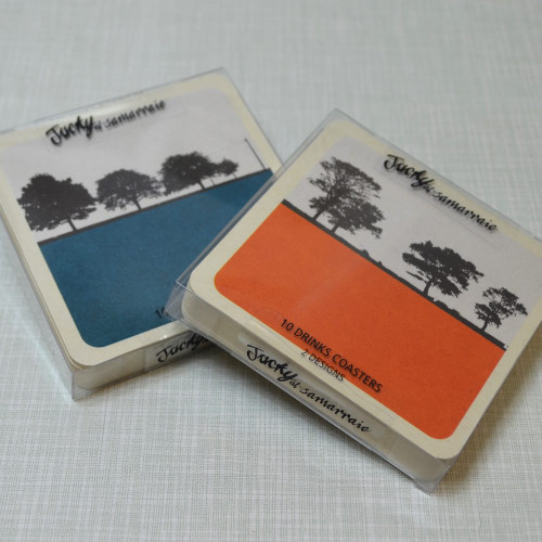 Jacky Al-Samarraie Rural Landscape Drinks Coasters - Set 1