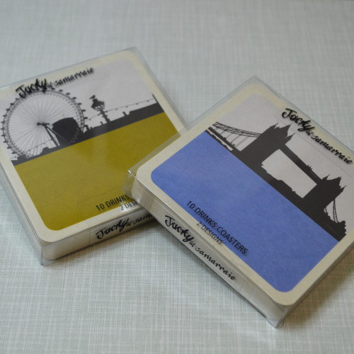Jacky Al-Samarraie London Cityscapes Drinks Coasters - Set 2