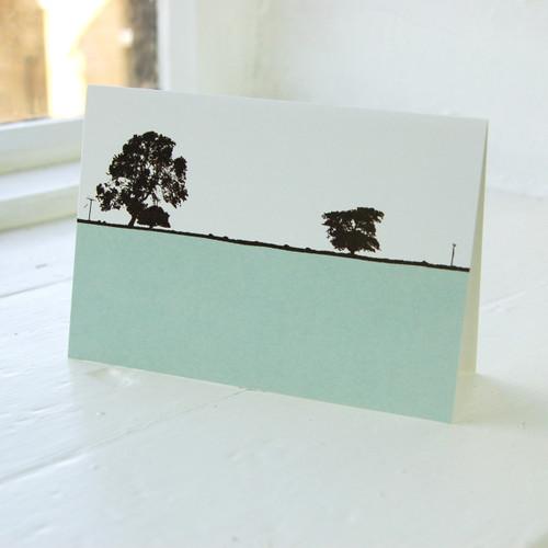 Jacky Al-Samarraie Ilkley Blue Greeting Card