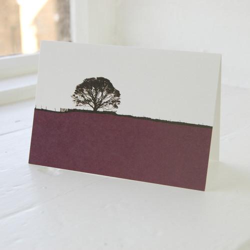 Jacky Al-Samarraie Dales - Grassington Purple Greeting Card