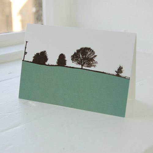 Jacky Al-Samarraie Leeds - Guiseley Turquoise Greeting Card