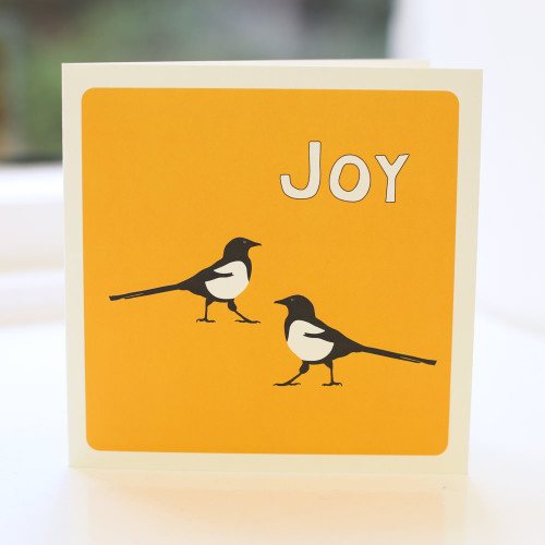 Jacky Al-Samarraie Magpie Joy Greeting Card