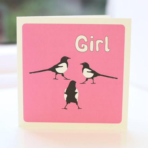 Jacky Al-Samarraie Magpie Girl Greeting Card