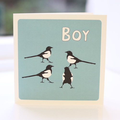 Jacky Al-Samarraie Magpie Boy Greeting Card