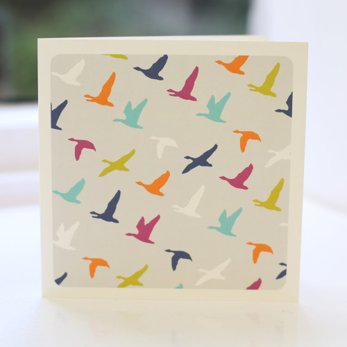 Jacky Al-Samarraie Flying Ducks Multi Greeting Card