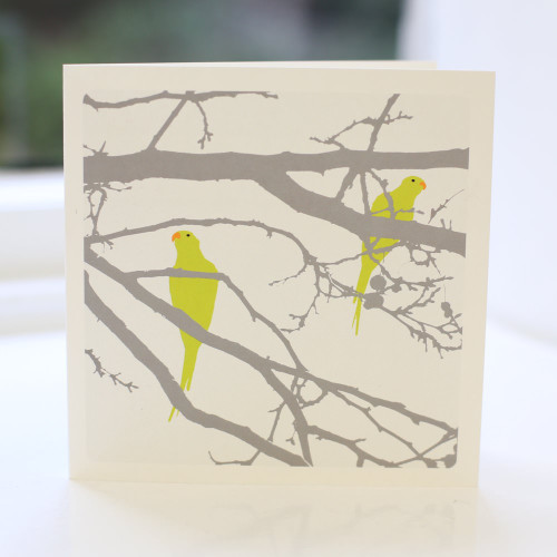 Jacky Al-Samarraie Parakeets Greeting Card