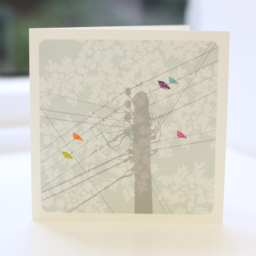Jacky Al-Samarraie Telegraph Pole 2 Greeting Card