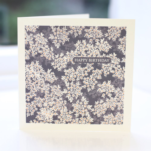 Jacky Al-Samarraie Cow Parsley Blue Greeting Card