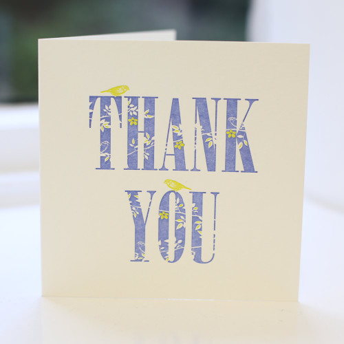 Jacky Al-Samarraie Thank you Letterpress Greeting Card