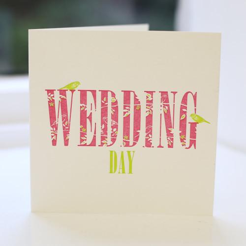 Jacky Al-Samarraie Wedding Day Letterpress Greeting Card