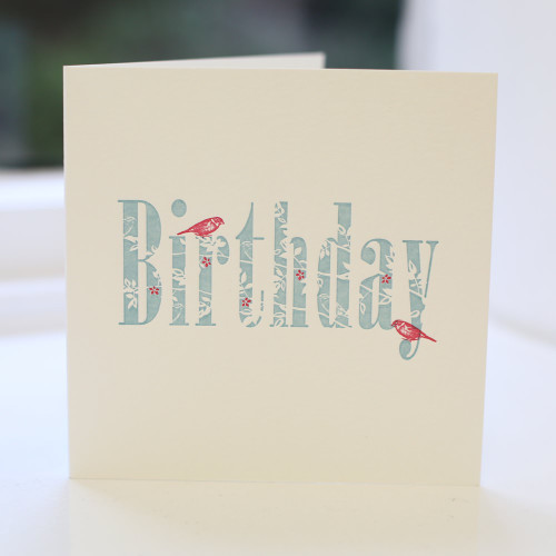 Jacky Al-Samarraie Birthday Letterpress Greeting Card