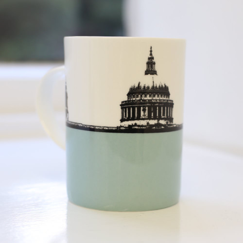 Jacky Al-Samarraie St. Paul's and Millenium Bridge Bone China Mug