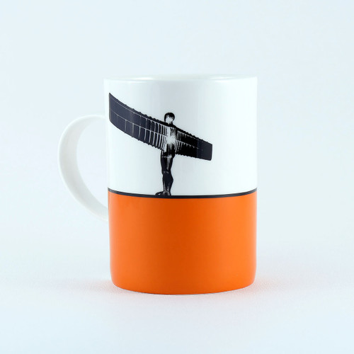 Angel of the North bone china mug by Jacky Al-Samarraie