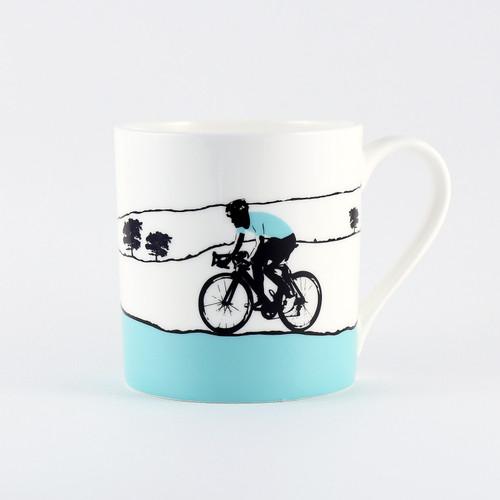 Jacky Al-Samarraie Turquoise Jersey Cycling Bone China Mug