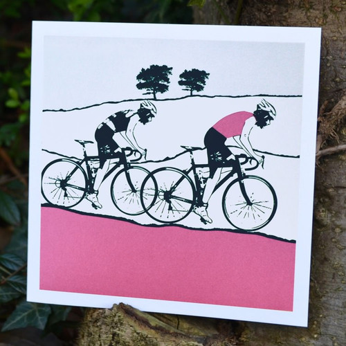 Jacky Al-Samarraie Female Cyclist Greeting Card