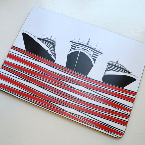 Jacky Al-Samarraie Ships Table Mat - Red - DISCONTINUED