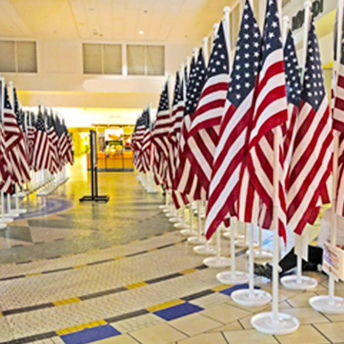 Indoor American Flagpole Set