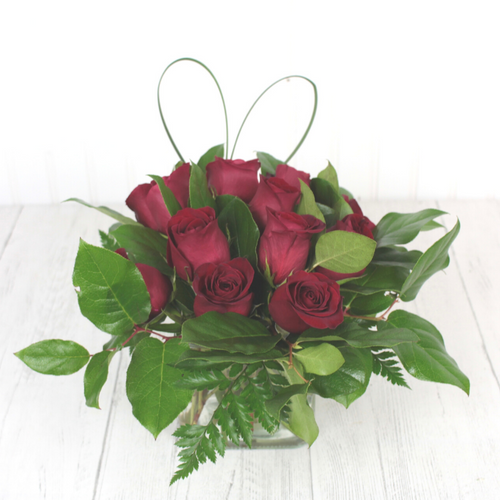 Love Squared Red Roses Valentine's Day Midwood Flower Shop   Charlotte Florist Delivery Service