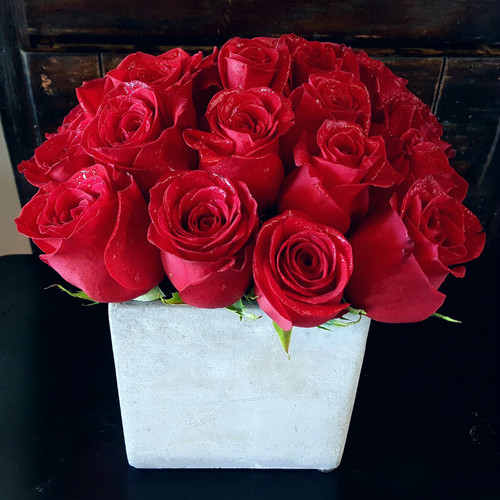 Love Set In Stone - 18 Red Roses Shop By Occasion Midwood Flower Shop | Charlotte Florist Delivery Service