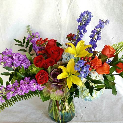 Colorful Garden Bouquet Birthday Flowers Midwood Flower Shop | Charlotte Florist Delivery Service