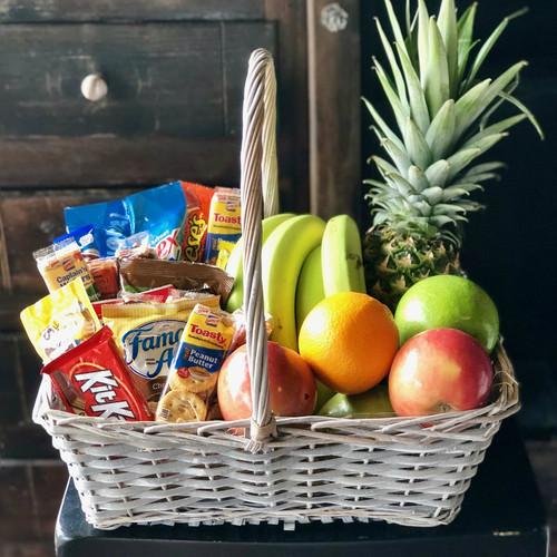 Fruit & Snack Basket Mother's Day Flowers Midwood Flower Shop | Charlotte Florist Delivery Service