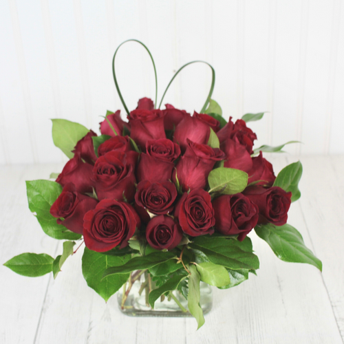 Love Squared - 24 Red Roses Romance & Anniversary Midwood Flower Shop | Charlotte Florist Delivery Service